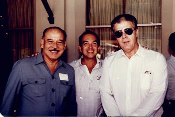 """Legenda: Da esquerda para direita: Dr. Evaldo Machado, Dr. Eduardo Soares e dr. Eloy Pereira. Foram carinhosamente denominados """"Os três mosqueteiros da Plástica Ocular"""""""